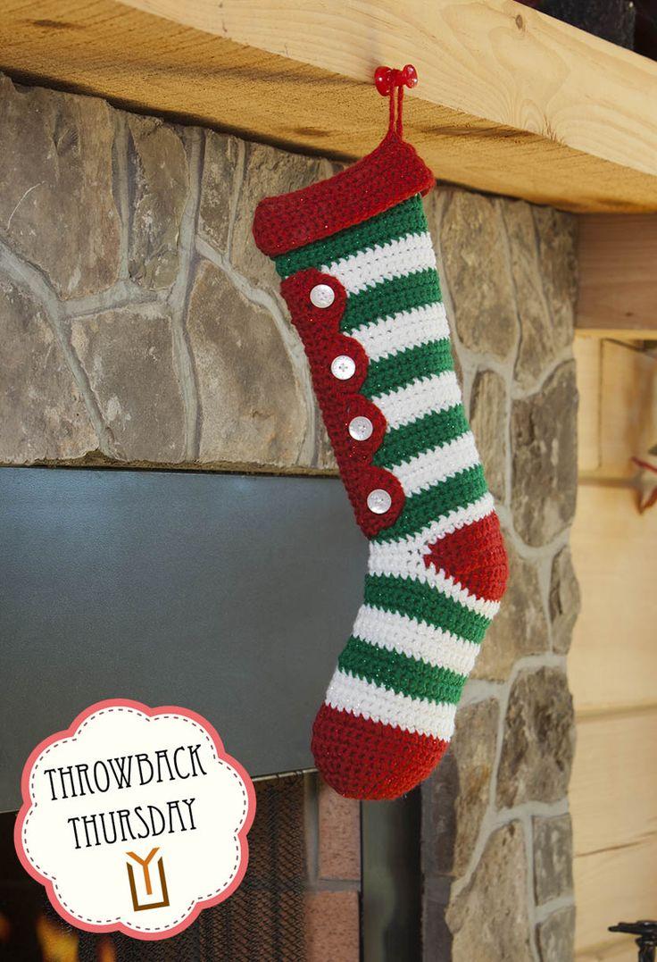 TT Crocheted Candy Stripes Stocking