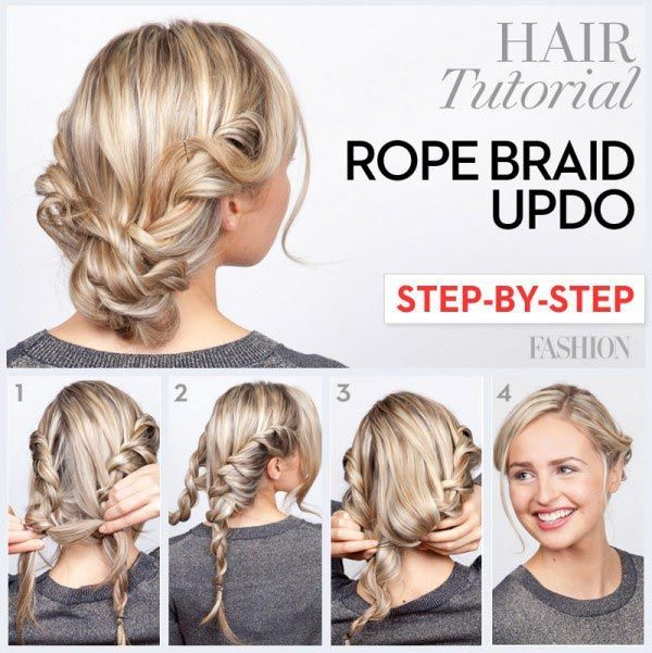 Rope braid updo tutorial #hair #hairstyle #womentriangle