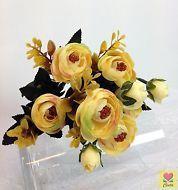 3XArtificial Silk Flower Light Yellow Light Green Light pink Peony cintahomedeco