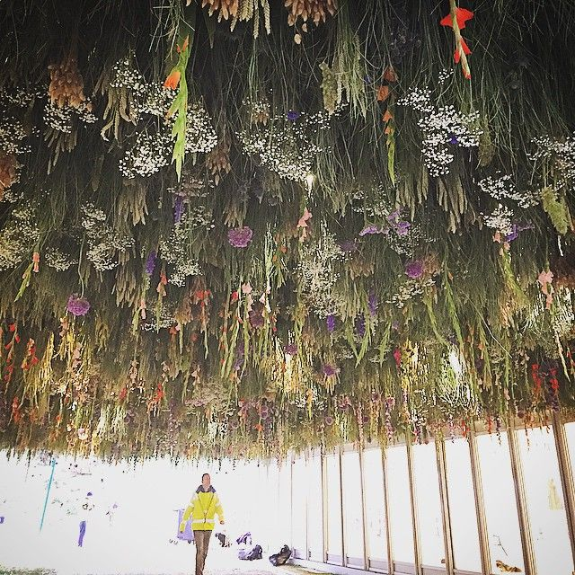 """Rebecca Louise Law """"The Meadow"""" floral installation at the 2015 Chelsea Flower Show"""