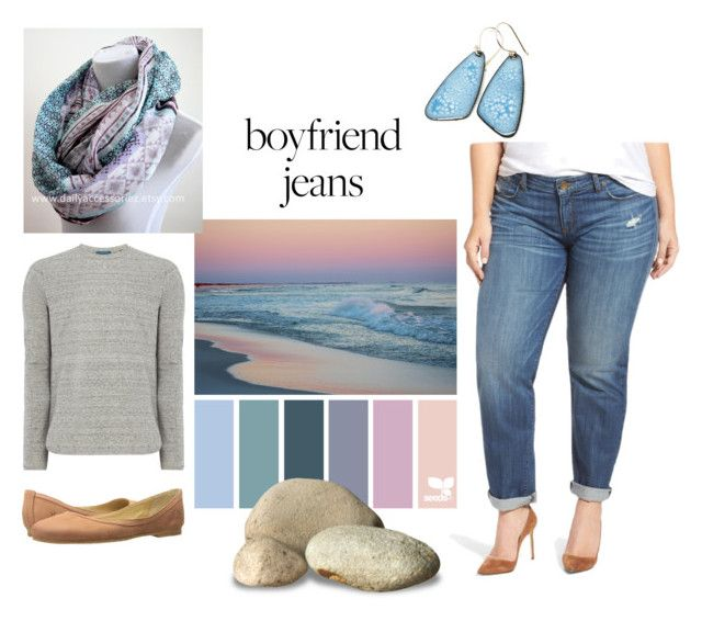 """Boyfriend jeans"" by gillian-jacobs on Polyvore featuring Frye, Scotch & Soda, KUT from the Kloth and plus size clothing"