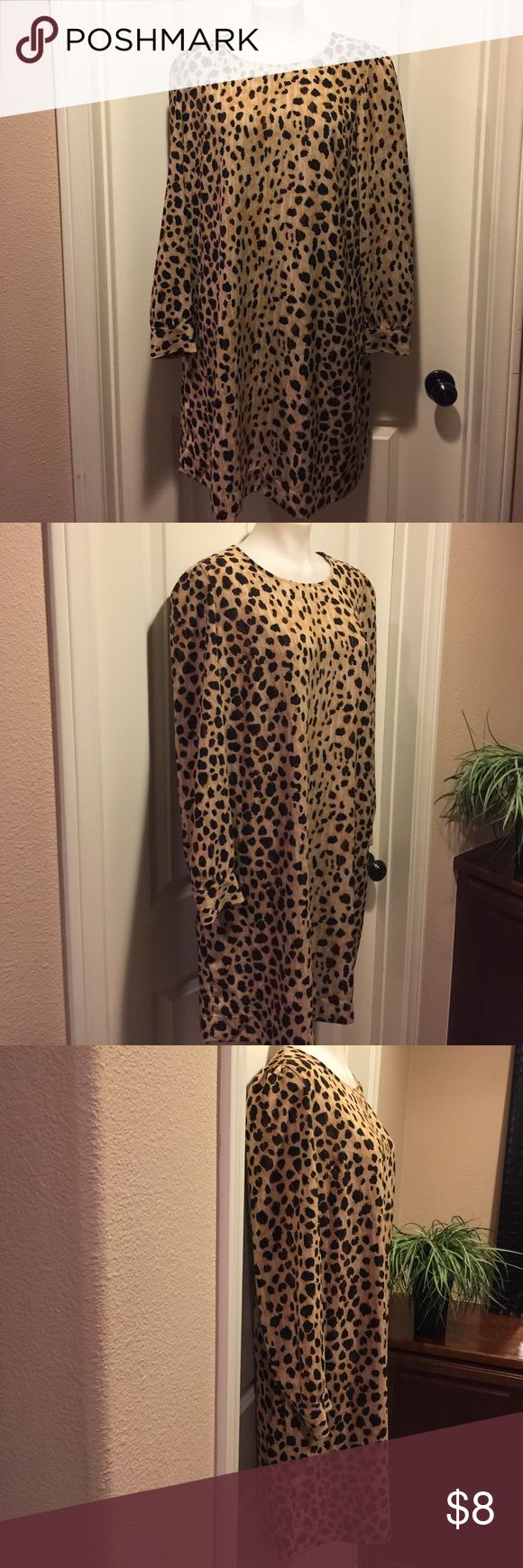 Cheetah Print Dress🌟 Cheetah Print Dress in excellent condition, shows no signs of wear, thanks for looking 😊 Merona Dresses Midi