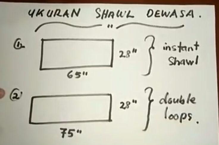 Ukuran shawl