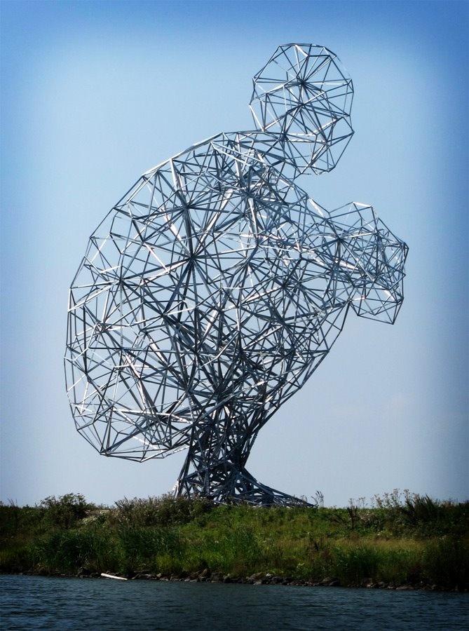 ◦ Thinker ◦  artist: Herman Verheij  location: Lelystad, Netherlands