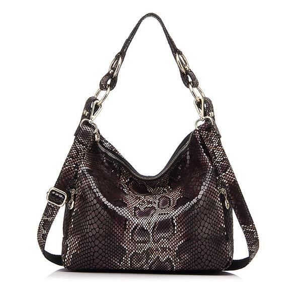 17fbe4c43c56 Realer Brand woman handbag genuine leather tote bag female classic  serpentine prints shoulder bags ladies handbags messenger bag Realer Brand  woman handbag ...