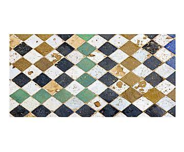 Alfombra vin lica square tiles mosaicos y dibujos - Alfombras dibujos geometricos ...