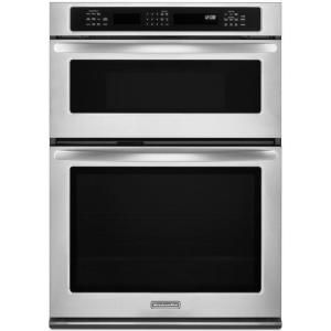KitchenAid Architect Series II 27 In. Electric Convection Wall Oven With  Built In Microwave In Stainless Steel