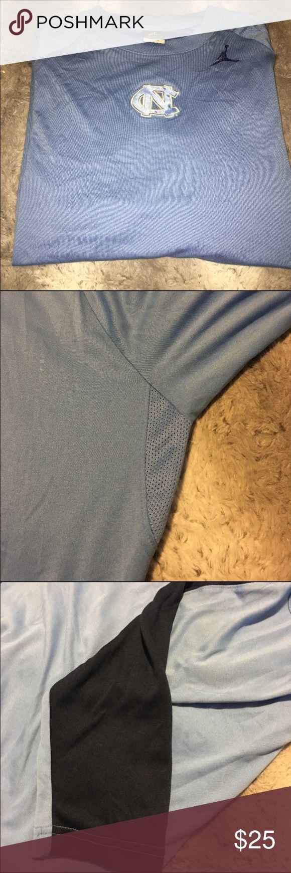 Men's NC Tarheels Jordan Tee Dri Fit Large (runs Big) 100% Polyester Jordan Shirts Tees - Long Sleeve