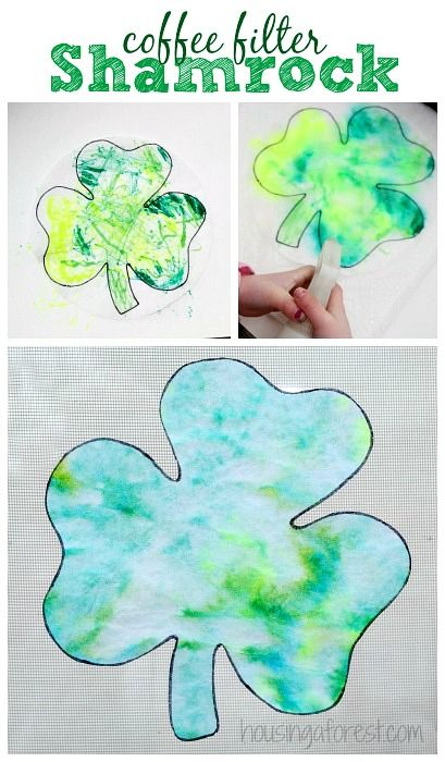 St Patricks Day Craft ~ Easy Preschool Coffee Filter Shamrock We love creating simple holiday crafts. These adorable little coffee filter Shamrocks are one of our favorite preschoolSt Patricks Day Craft ideas. They are quick/easy to create, andonly use a a few simple craft supplies. Love