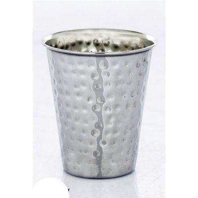 "Ben and Jonah Stainless Steel Hammered Kiddush Cup Size: 3"" H x 4"" W x 4"" D"
