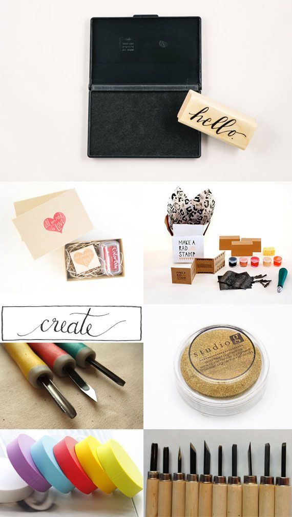 Love: Oana Befort's picks for creating your own carved rubber stamps.