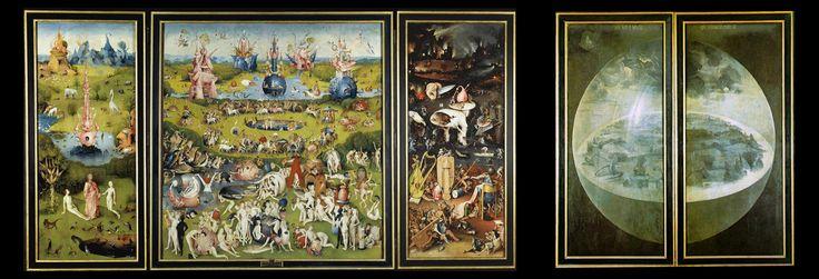 J r me bosch le jardin des d lices d tail volets for Bosch jardin des delices