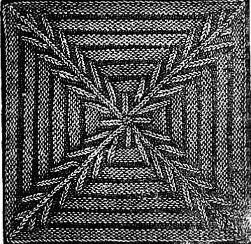 Ravelry: Blanket Square- Knitted Cross pattern by The Dawn Newspaper  Free pattern.  Pretty, interesting.  UK terms.