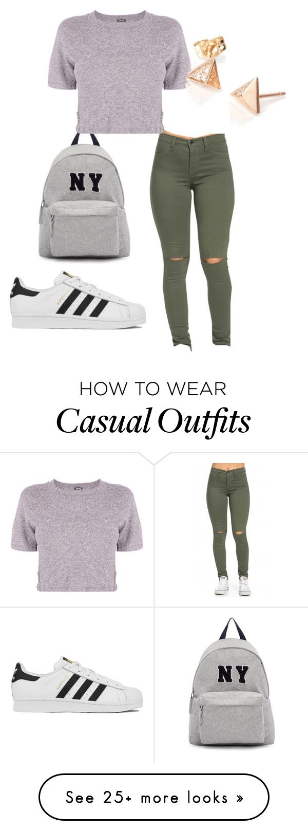 """Casual"" by aishaamin25 on Polyvore featuring Joshua's, Monrow, adidas, women's clothing, women's fashion, women, female, woman, misses and juniors"