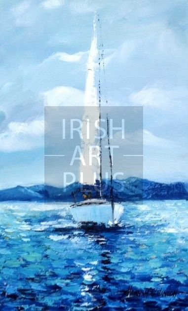Lone Yacht, Co.Down By Hannah O'Hanlon