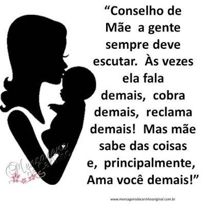 MENSAGENS DE CARINHO: CONSELHO DE MÃE...