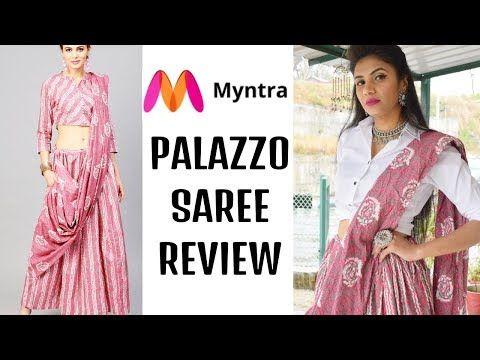 99671120841 MYNTRA PALAZZOS SAREE REVIEW   What is palazzo saree   Myntra saree ...
