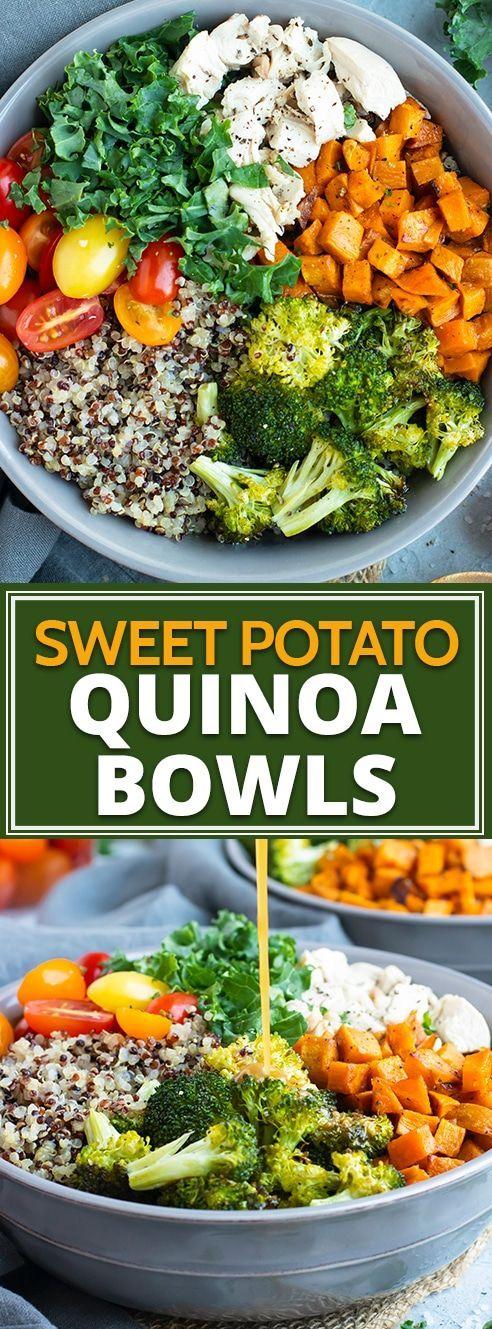 Sweet Potato Broccoli Quinoa Bowls