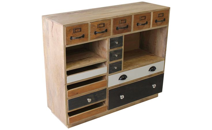 A102 TIMBER MULTI COLOURED CABINET
