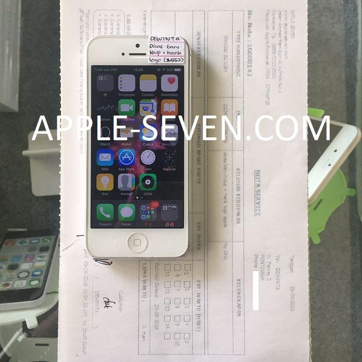 iPhone 5G di cas baru hidup hank logo apple atas nama Ibu Dewinta | Apple Pontianak