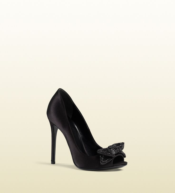 clodine crystal satin open toe pump. I just got these but without Crystal.  They are So lovely and I did not expected to buy gréât shoes any sooner.