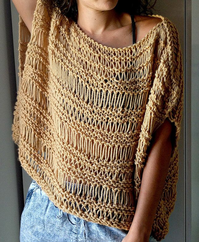 Dropped Stitch Top Pattern | The Snugglery | A Place for Yarn Lovers