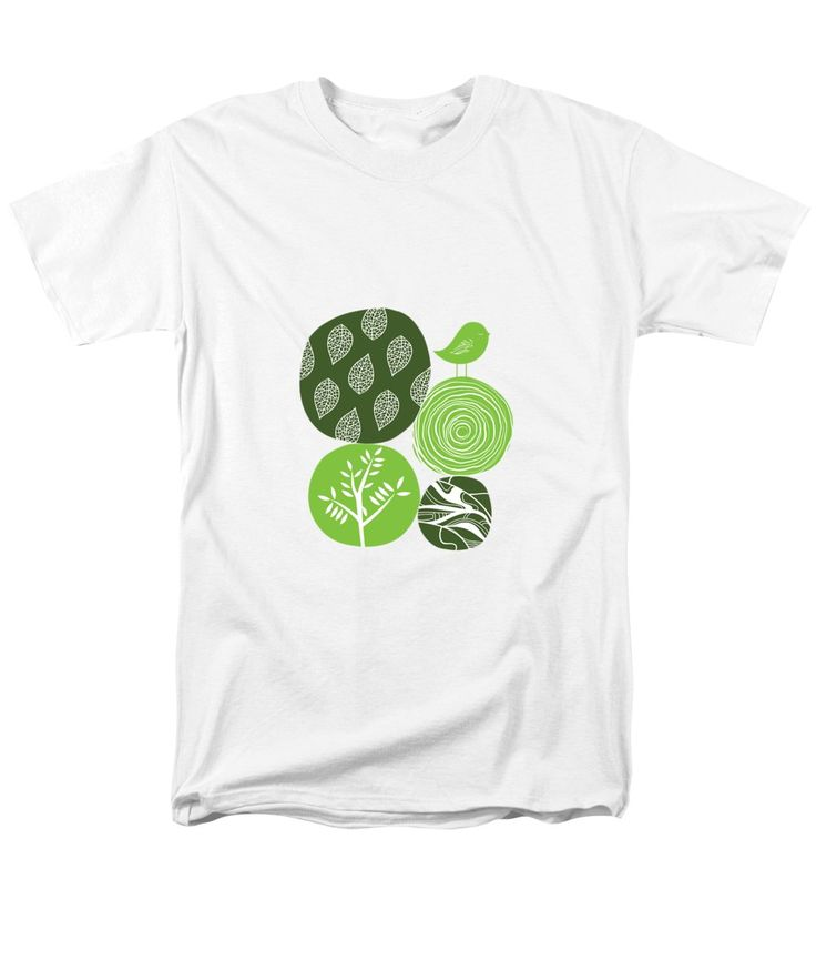 Nature T-Shirt featuring the digital art Abstract Nature Green by Bekare Creative