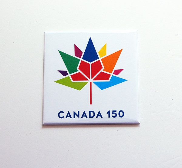 Canada 150 Magnet, Canada 150 logo, Canada Souvenir, Fridge magnet, Canada Day, Canada's 150th birthday, Large Canada Magnet (7479) by KellysMagnets on Etsy