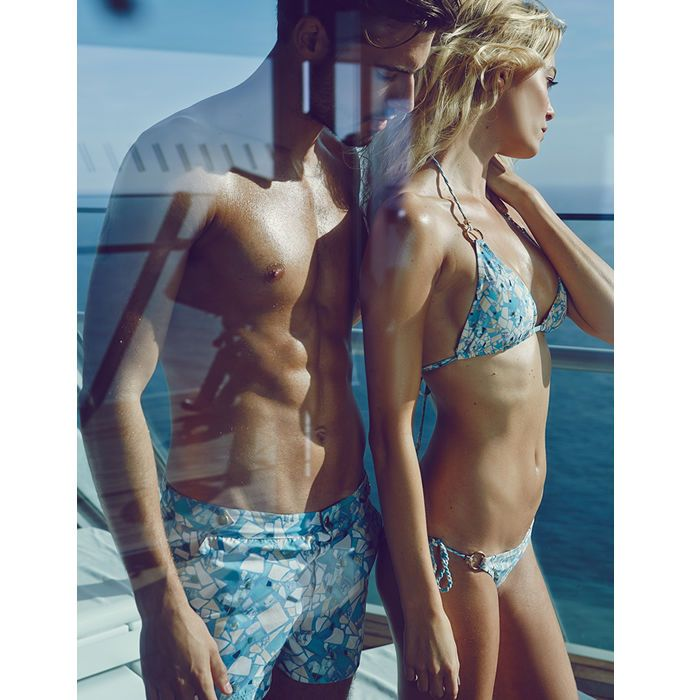 The William Tempest Swimsuit Line has One Bikini & One Pair of Trunks #popculture trendhunter.com