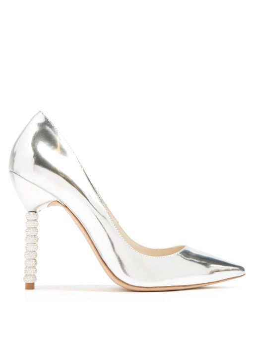 aea61da3dbb SOPHIA WEBSTER Coco Crystal Embellished-Heel Leather Pumps.  sophiawebster   shoes  pumps