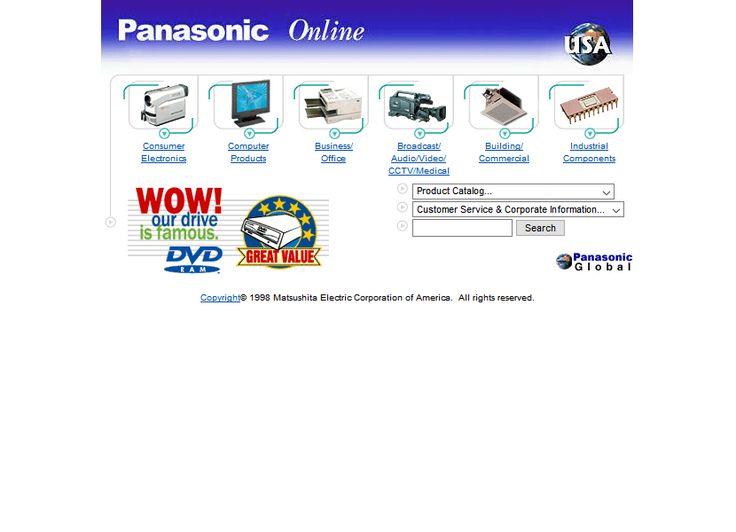 Panasonic website in 1998