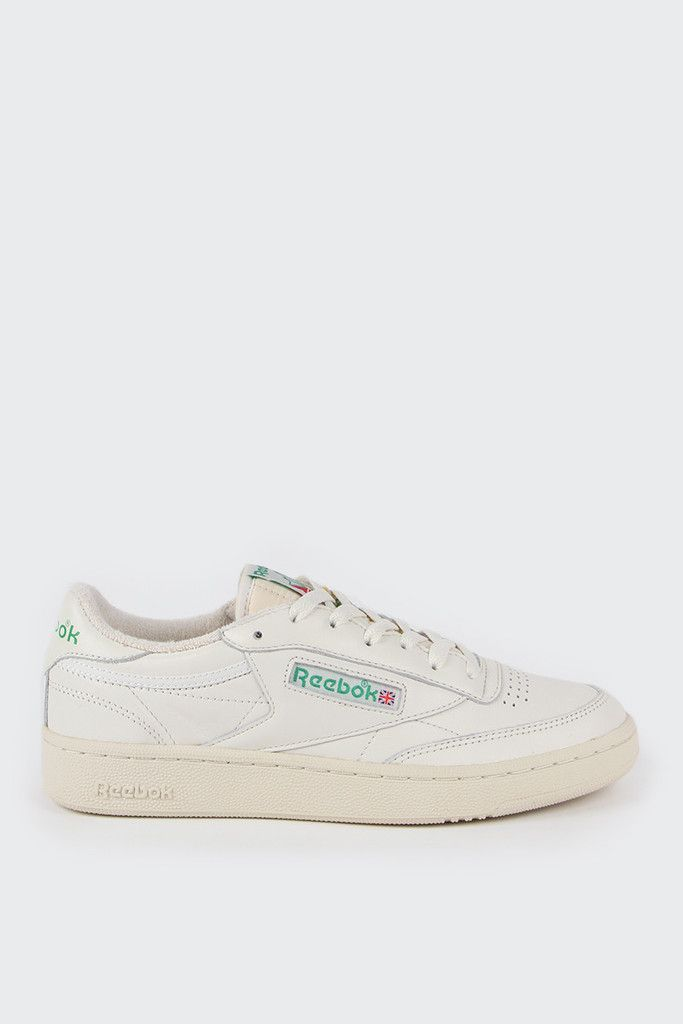 452e50ec09cd ... Reebok Club C 85 Vintage - chalk paper white greenFit  True to  sizeMaterials ...