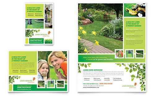 Lawn Mowing Service Flyer & Ad InDesign Template by @StockLayouts ...