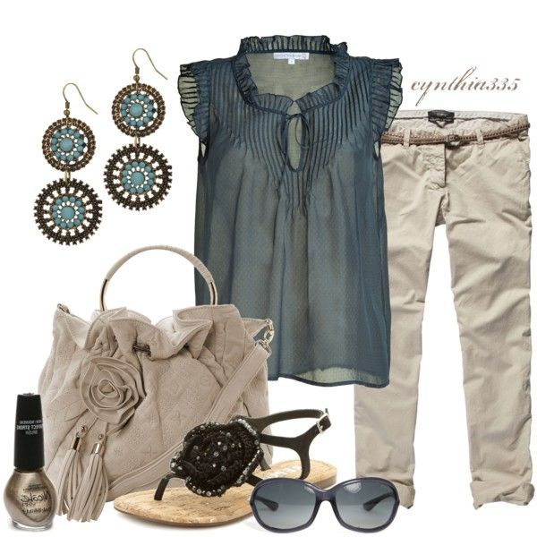 Summer Outfit: Blouses, Summer Fashion, Casual Outfit, Color, Shirts, Cute Summer Outfit, Fashionista Trends, Summer Clothing, My Style