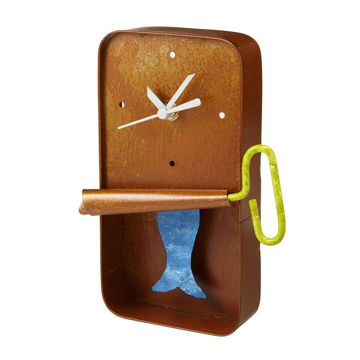 SARDINE WALL CLOCK | Metal Wall Art Pendulum Clock