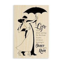 Stampendous!® Wood Stamp, Rain Dance