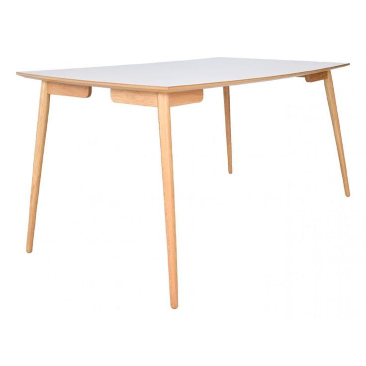 Perstorp rektangulärt bord ljus virrvarr laminat med ekben 150x95cm