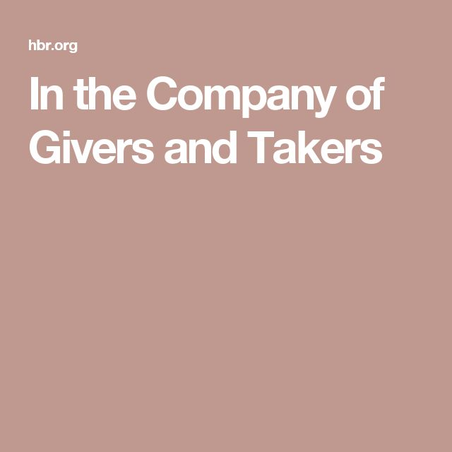 In the Company of Givers and Takers