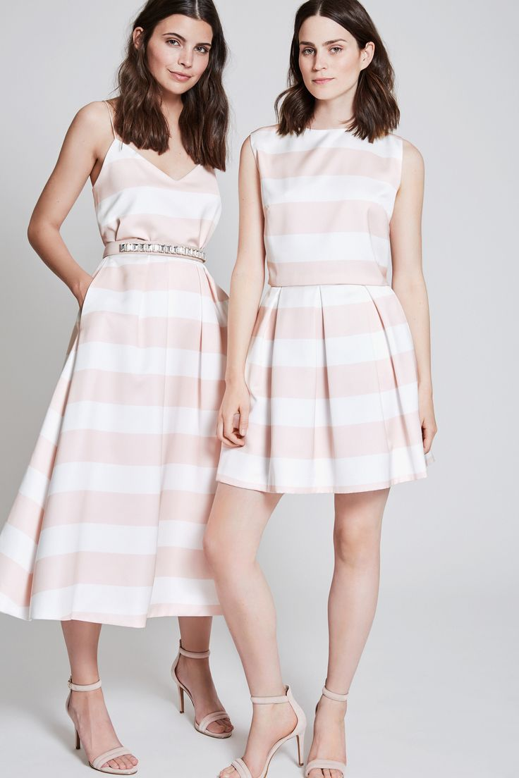 mix and match your perfect dresses - ideas for bridesmaiddresses - lovely stripes - blush white pastel lover - boho wedding