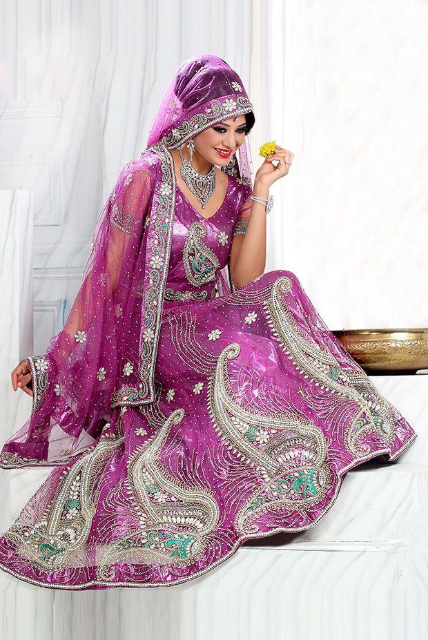 #Purple Designer #Lehenga Choli  Check out this page now :-http://www.ethnicwholesaler.com/lehengas/bridal-lehengas