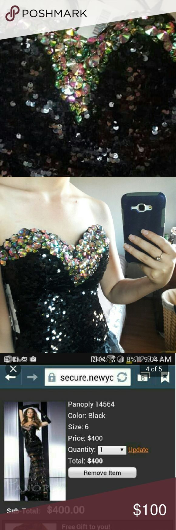 Panoply gown Size 4 New with tags.. evening gown with short train panoply  Dresses Strapless