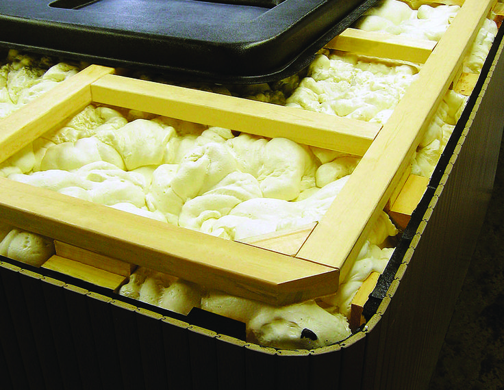Beachcomber signature insulation design is the feature that truly separates us from our competition. The insulation that is added to our hot tubs during the manufacturing process is a specialized type of expanding foam. #beachcomber #hottub #massage #energy #spa #therapy #hydrotherapy #relaxing #quality