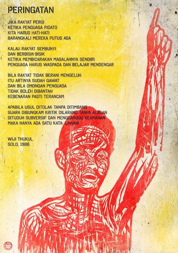 """""""Dirgahayu Wiji Thukul"""" by Nobodycorp Internationale"""