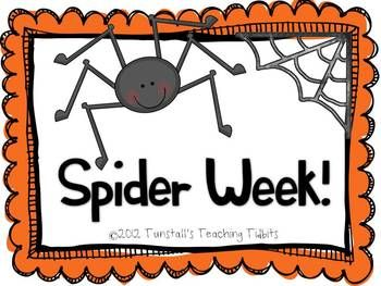 This Spider Unit includes a jam packed week of spider activities for the primary classroom! This unit has everything you need to teach spiders for your literacy and math blocks as well as three science center activities too. It was designed with first grade in mind, but kinder and second would benefit from it as well.Here's what you get:3 Spider Class Charts with Titles, Visuals, and Explanations as well as student recording sheets to match.