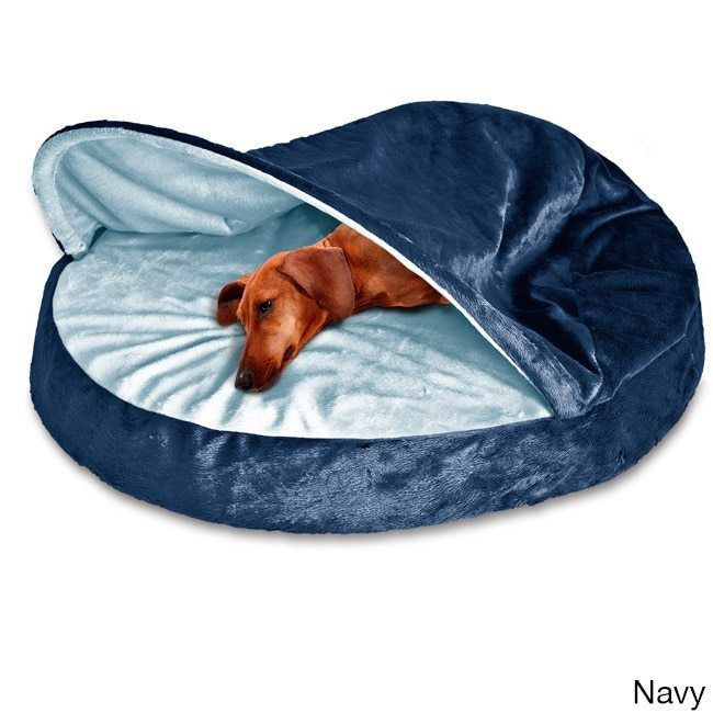 Details Luxury Round Dog Cave Bed Large    Gray