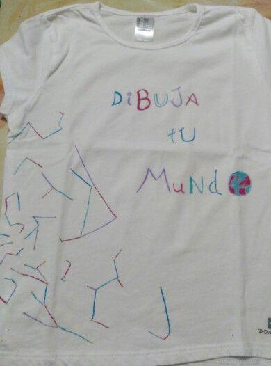 Camiseta pintada a mano _ made by Pececito Arcoiris