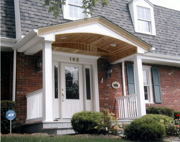 Another front porch roof option idea home sweet home for Porch roof ideas