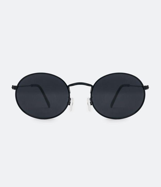 Oculos De Sol Feminino Modelo Redondo Hastes Em Policarbonato