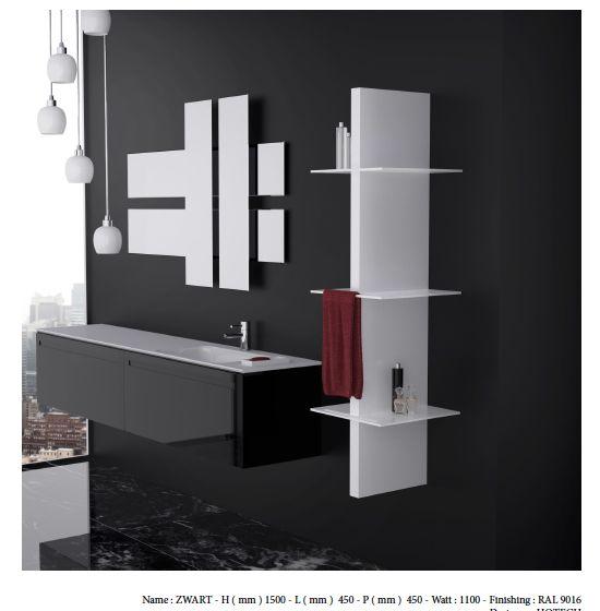 ZWART- dimensions : 1500x400mm - puissance 970W - à partir de 2714€