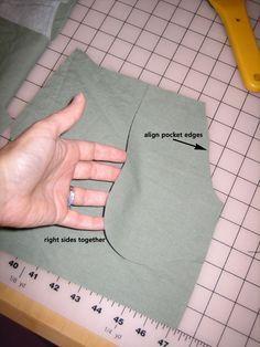 How to sew a slash pocket tutorial